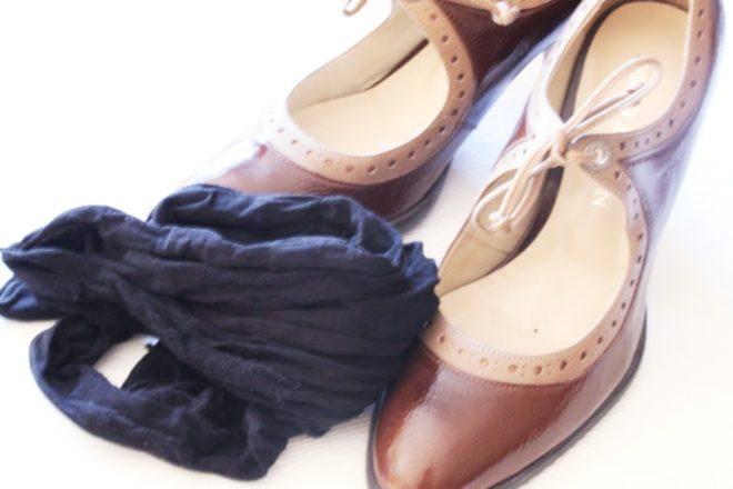 Schnelles Schuh putzen