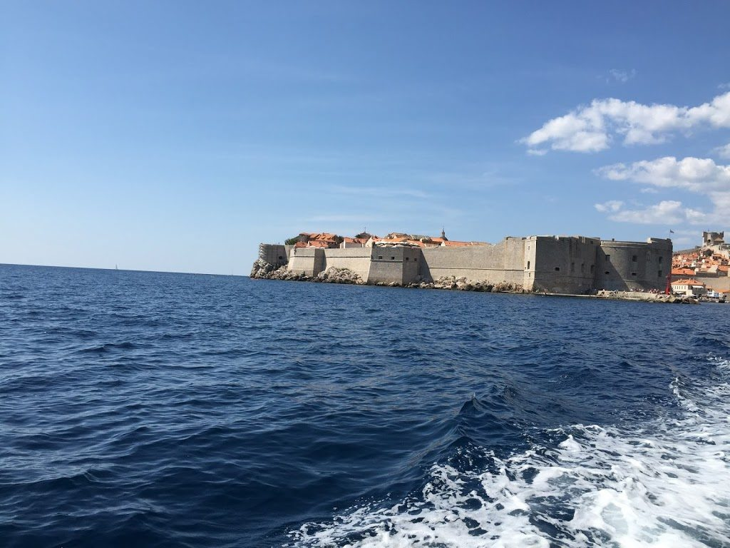 Blick auf Dubrovnik - bei der Rückfahrt zum Schiff