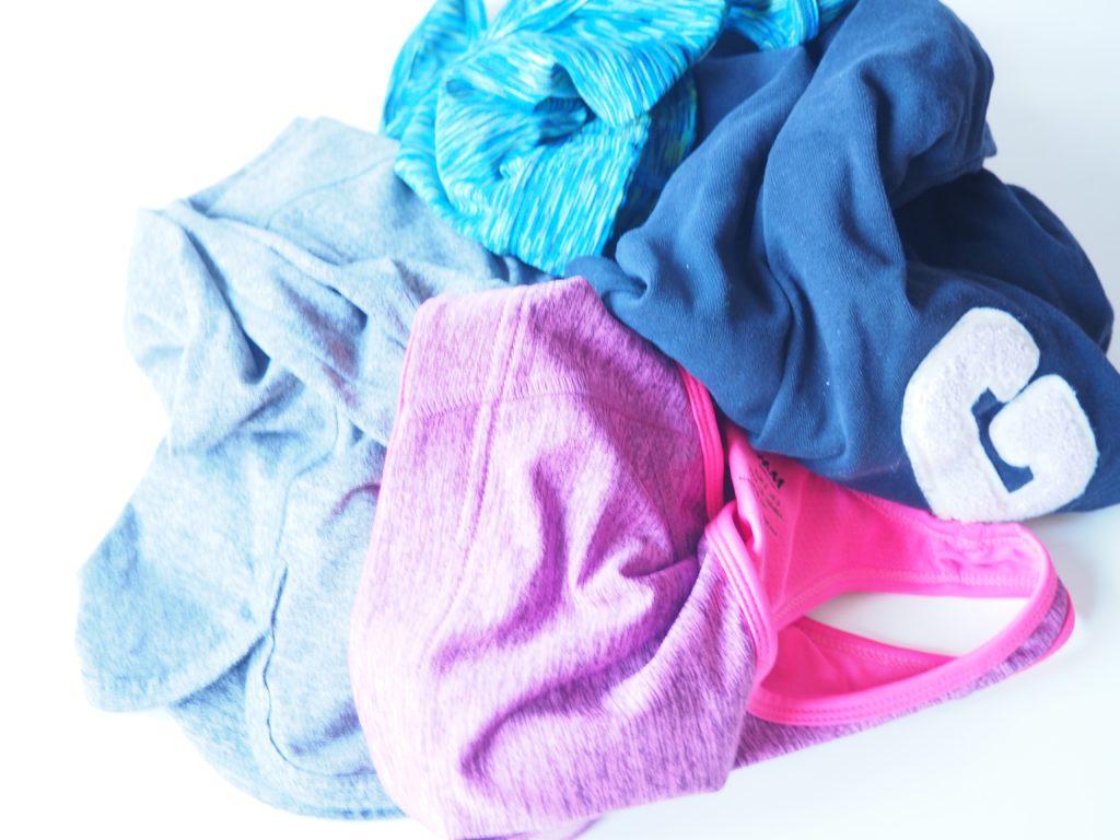 Sportsachen in die Wäsche