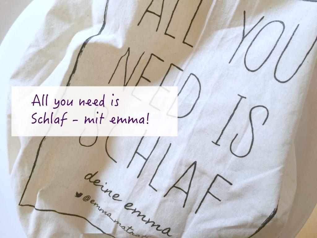 Schlafen auf der Emma Matratze – All you need is Schlaf!67129