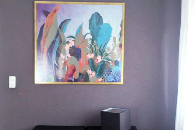 Bild im Schlafzimmer