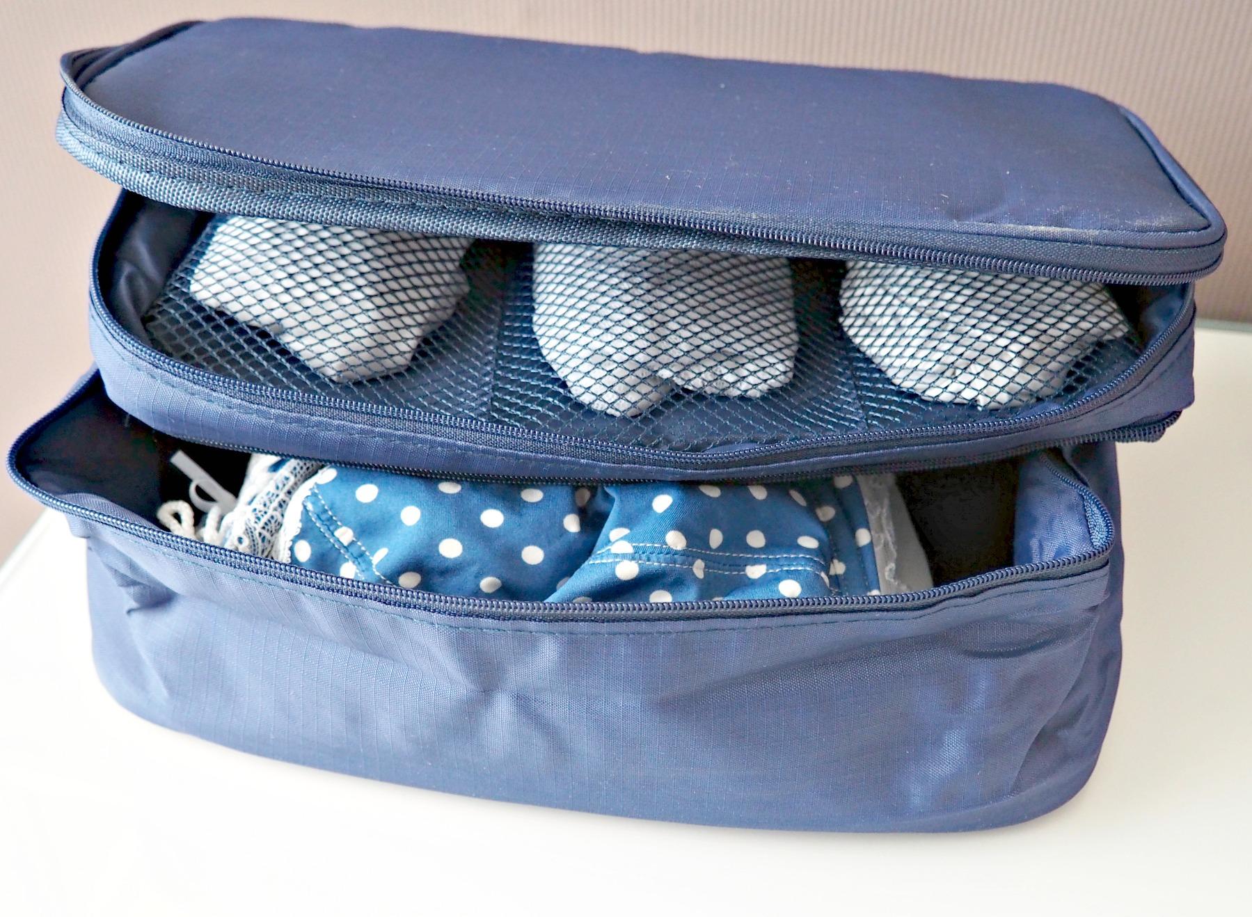 Unterwäsche im Koffer