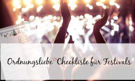 Checkliste Festivals