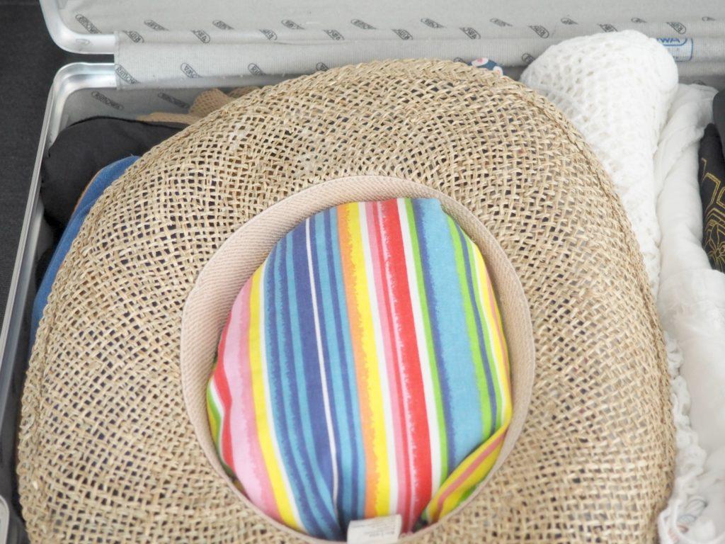 Hut gut polstern im Koffer