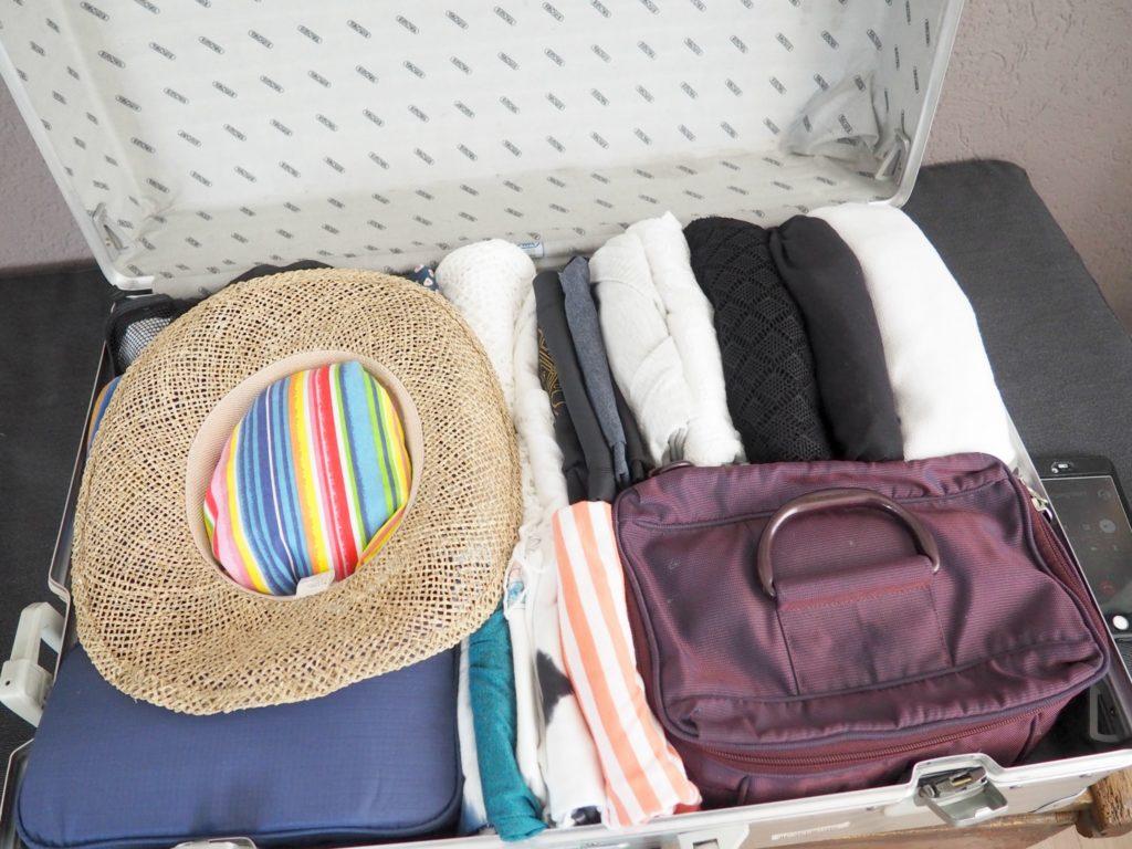 Hut im Koffer