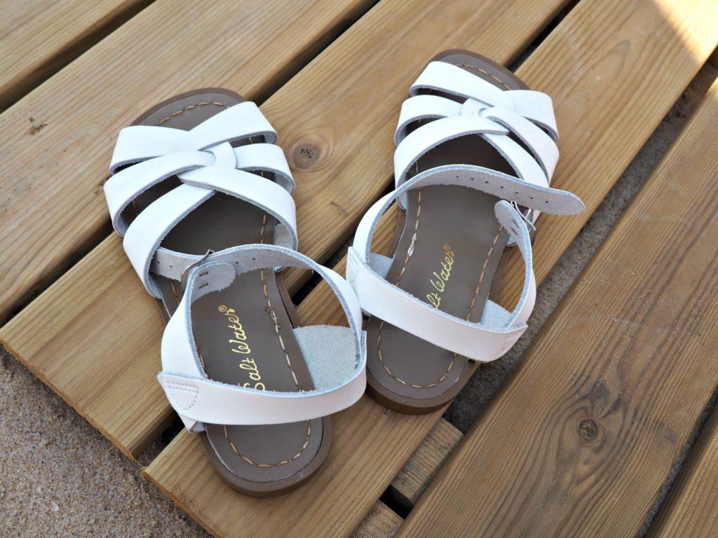 Salt Water Sandals at the beach