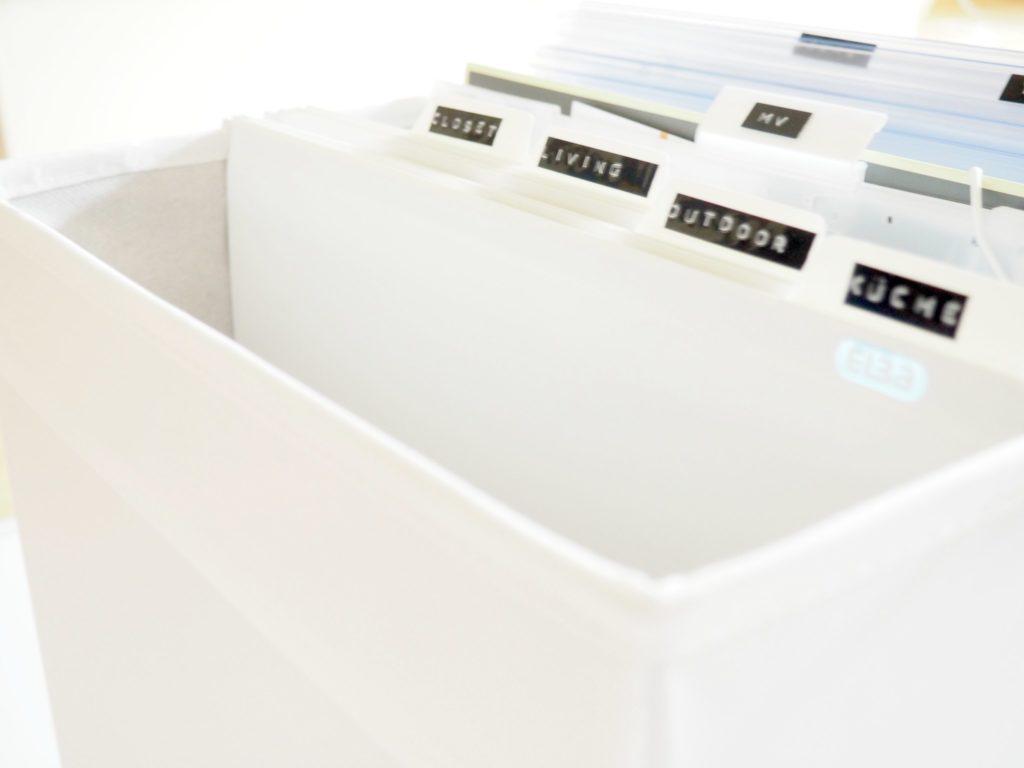 Hängeregister Ikea-Box - Organisieren mit Hängeregistern