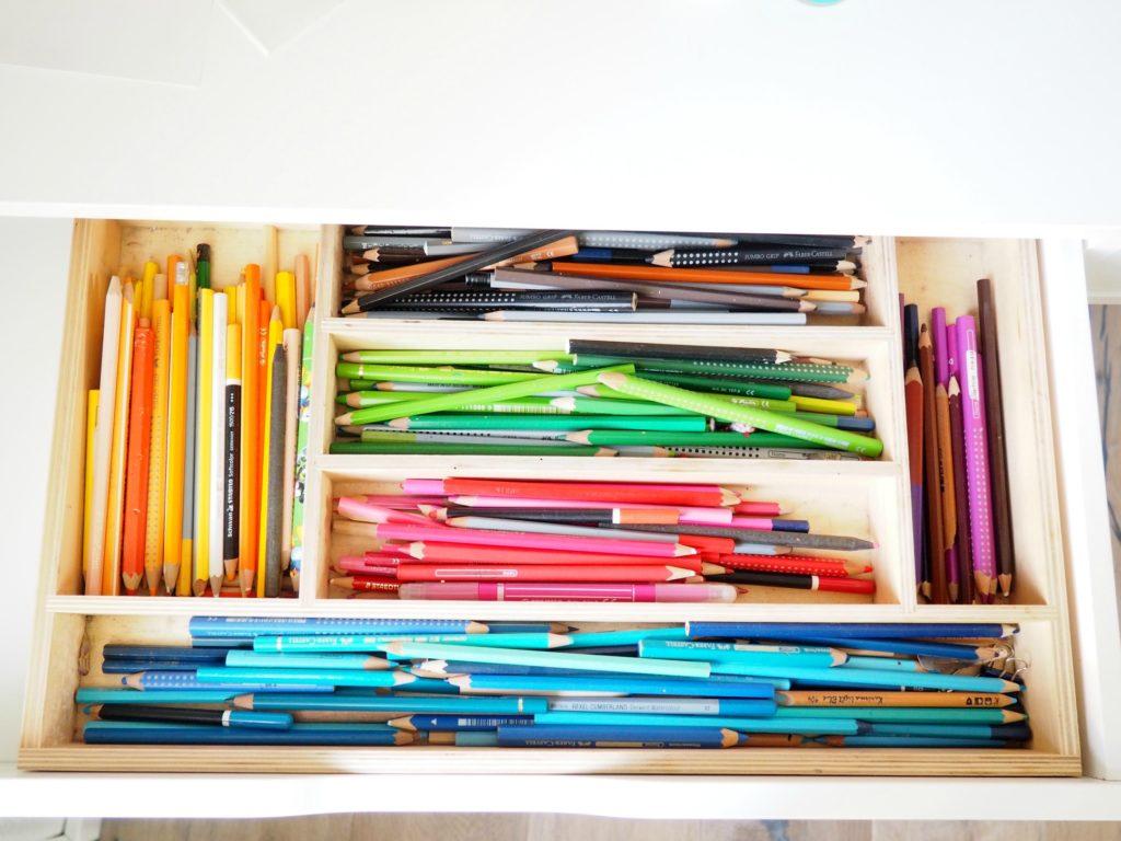 Stifte in Schublade