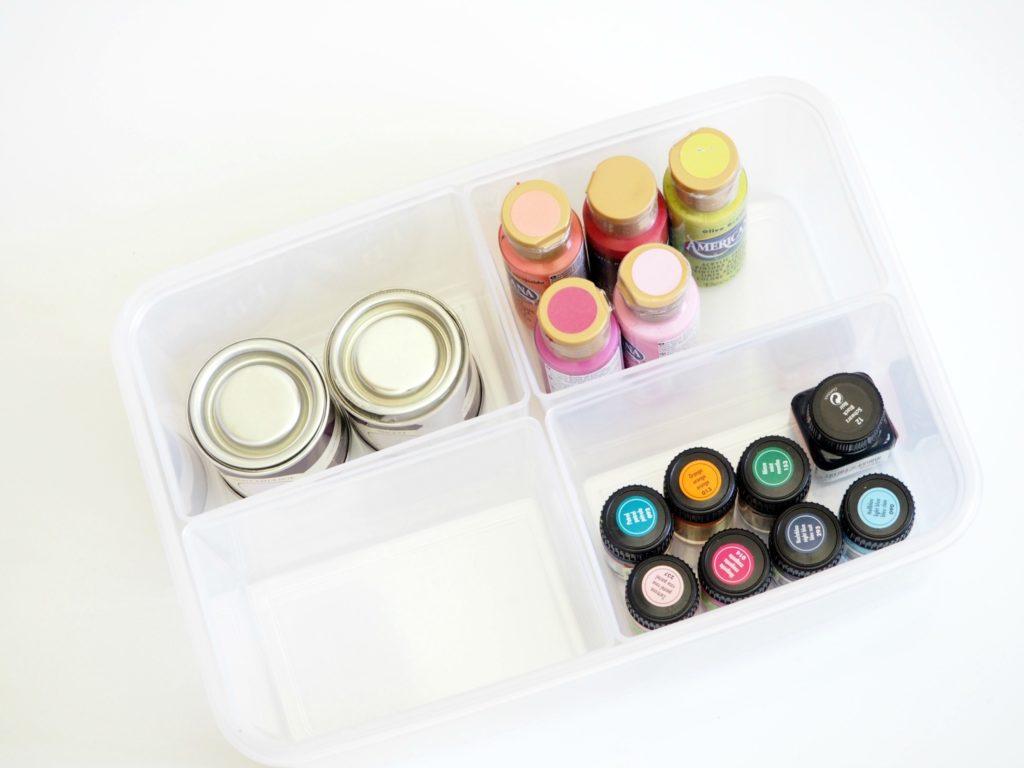 Farben aufräumen in portablen Boxen