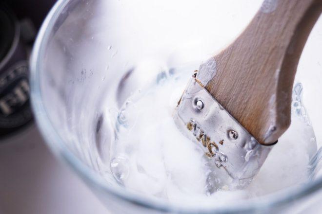 Pinsel reinigen mit Weichspüler
