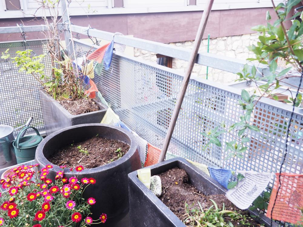 Balkon vor der Bepflanzung