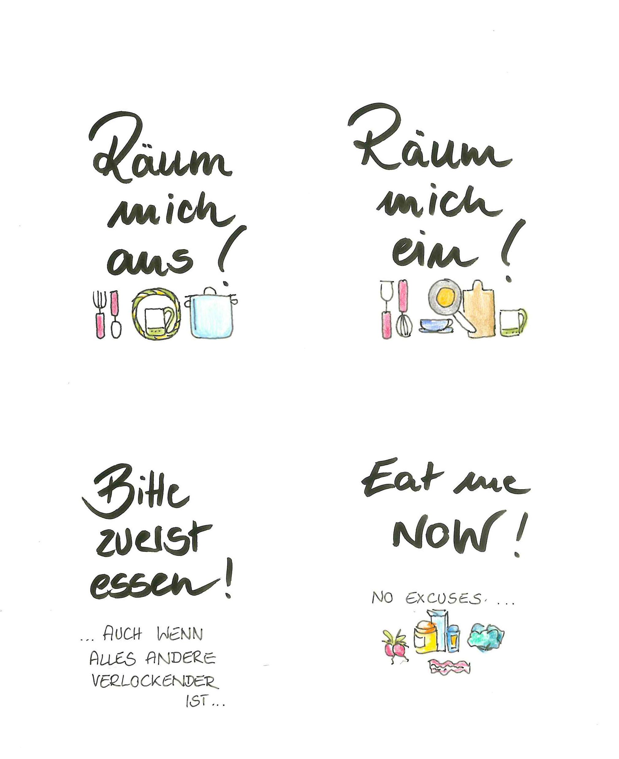 Schilder zum Ausdrucken für die Küche
