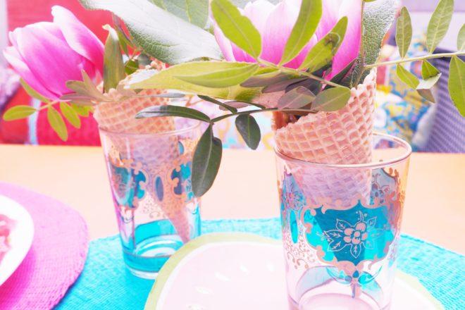 Sommerdeko mit Eiswaffeln