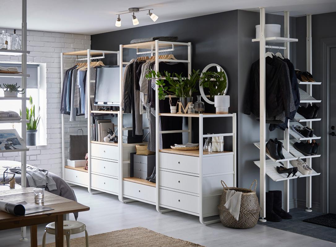 ordnung im schlafzimmer und kleiderschrank mit ikea ordnungsliebe. Black Bedroom Furniture Sets. Home Design Ideas