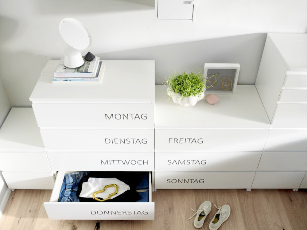ordnung im schlafzimmer und kleiderschrank mit ikea. Black Bedroom Furniture Sets. Home Design Ideas