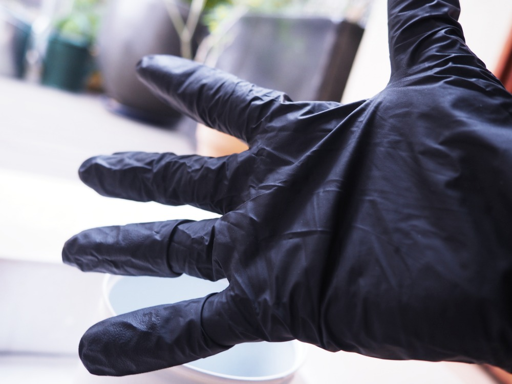 Spönnet Einmal Handschuhe