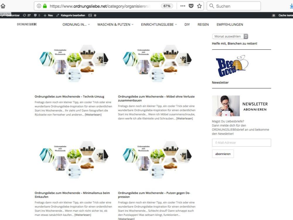 Organisiert bloggen