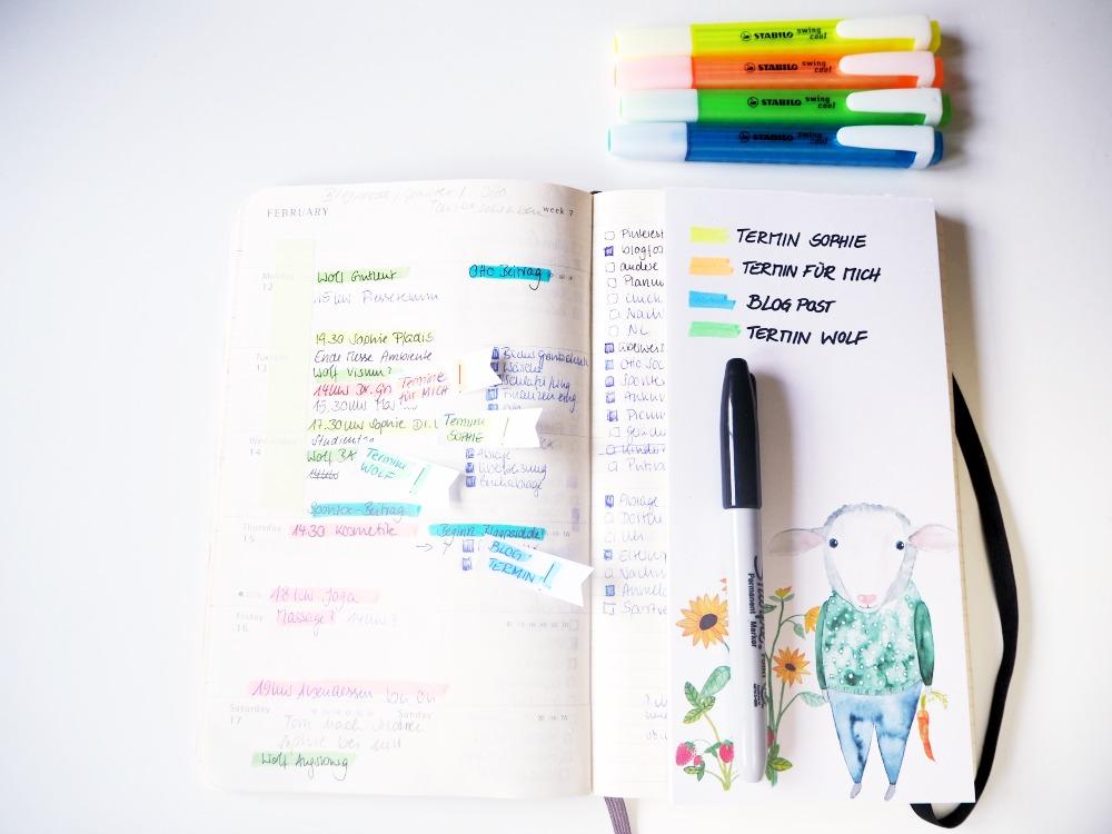 Farbcode Kalender