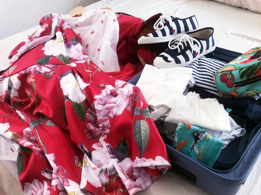 Koffer packen rollen