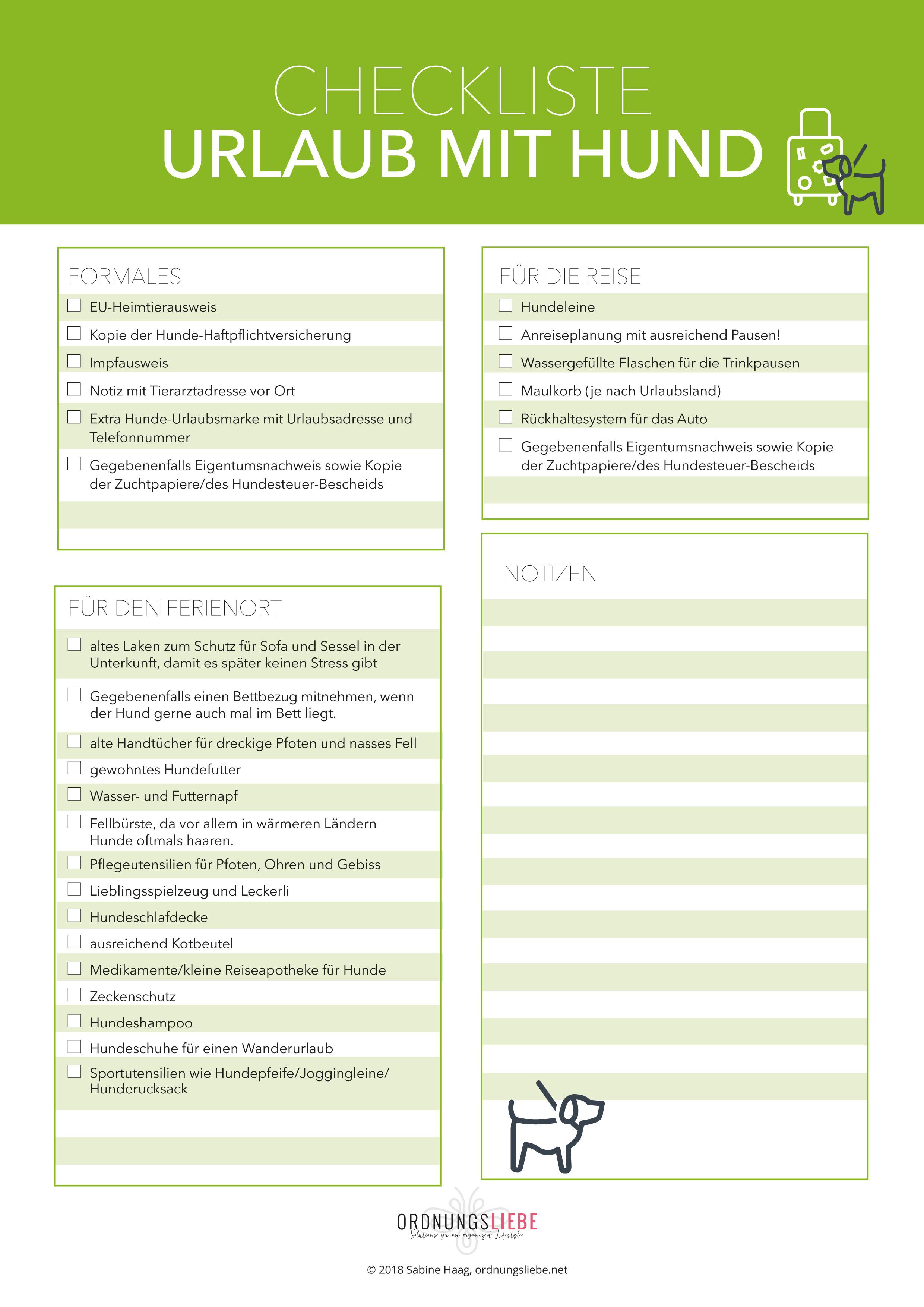 Checklisten & Cheatsheets - ordnungsliebe