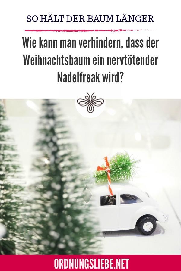 Weihnachtsbaum länger haltbar machen