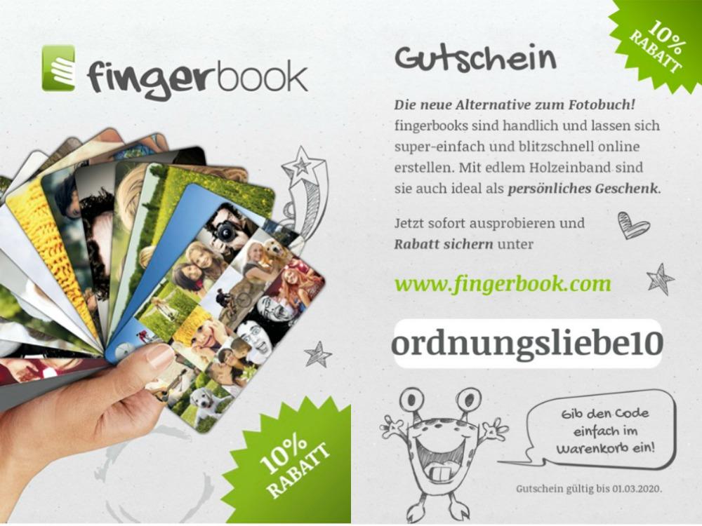 fingerbook Gutscheincode