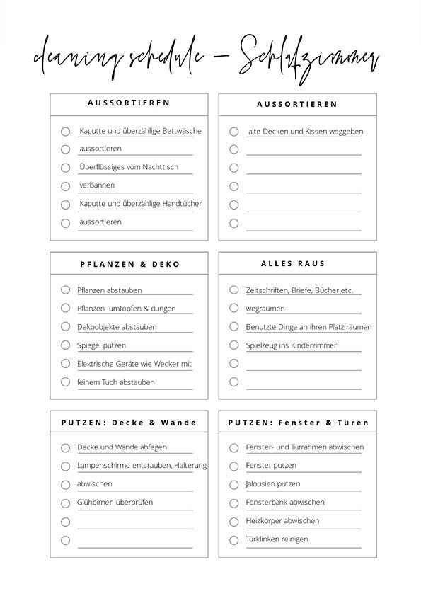 Frühjahrsputz Schlafzimmer: Die Checkliste