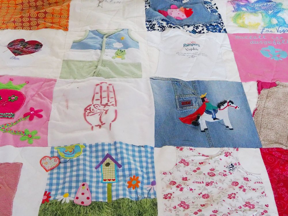 Patchworkdecke T-Shirts Upcycling